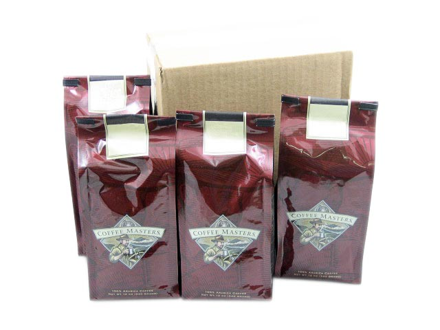 Euro-Espresso Blend Coffee, Ground (Case of Four 12 ounce Valve Bags) by