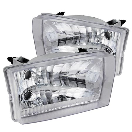 Spec-D Tuning Ford 1999-2004 F250 F350 F450 Headlights Head Lamps 1999 2000 2001 2002 2003 2004 (Left + Right) (2000 Ford F250 Camper)