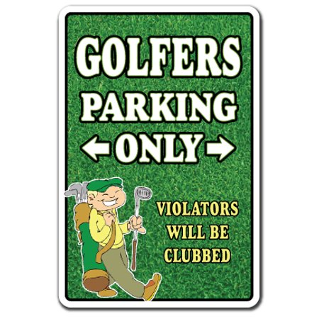 Golfers Only Decal | Indoor/Outdoor | Funny Home Décor for Garages, Living Rooms, Bedroom, Offices | SignMission Parking Funny Golf Ball Golfer Club Balls Shoes Hat Clubs Gift Decal