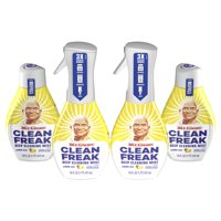 Mr Clean Clean Freak Deep Cleaning Mist Spray, Lemon Zest, 2 Starter Kits, 2 Refills
