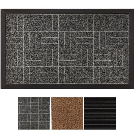 Tayyakoushi Durable Rubber Door Mat Heavy Duty Doormat, Indoor Outdoor, Waterproof, Easy Clean, Low-Profile Mats for Entry, Garage, Patio, High Traffic Areas (Gray: Diamond)29