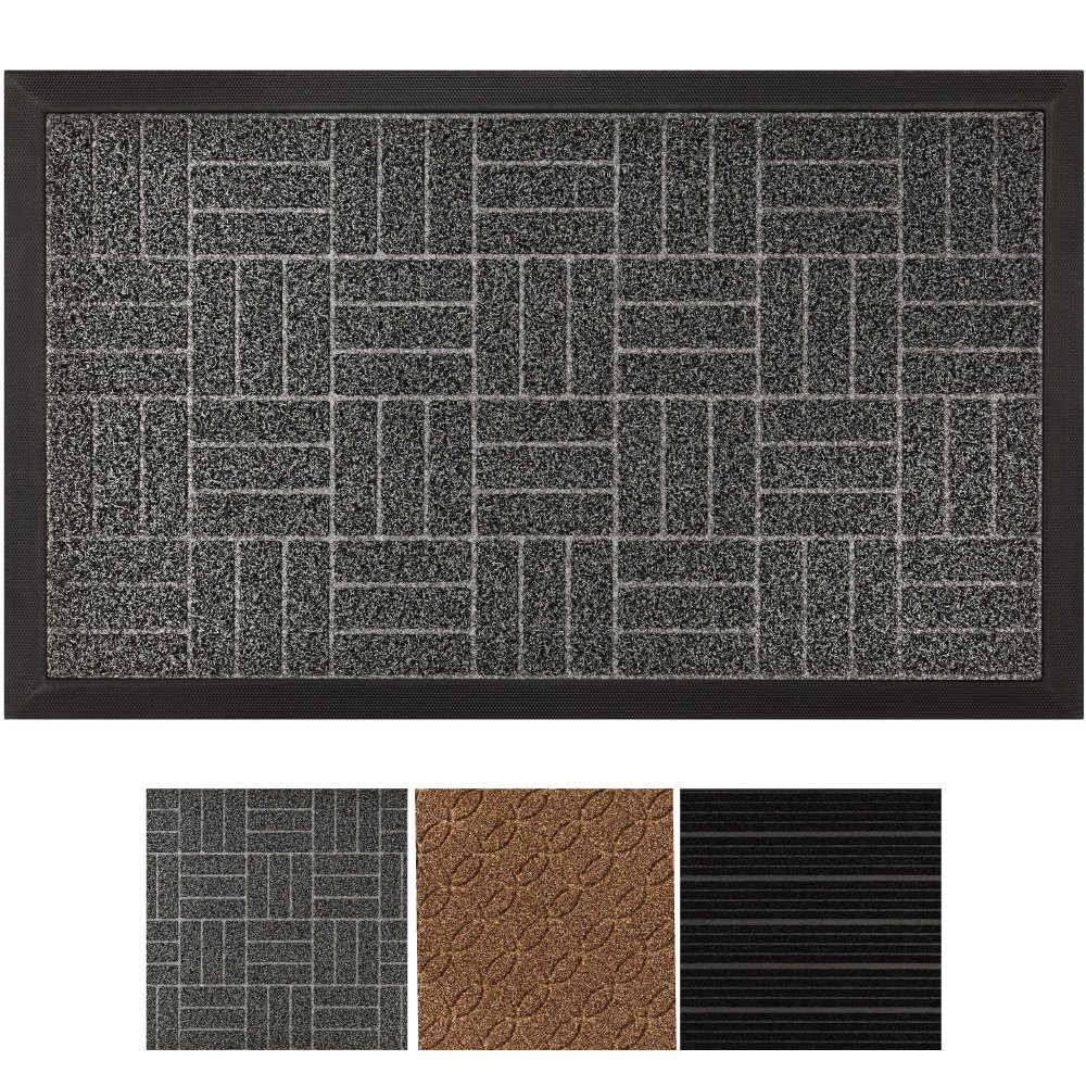 Tayyakoushi Durable Rubber Door Mat Heavy Duty Doormat, Indoor Outdoor,  Waterproof, Easy Clean