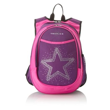 O3KCBP003 Kids Pre-School All-in-One Backpack With Cooler - Bling Rhinestone Star