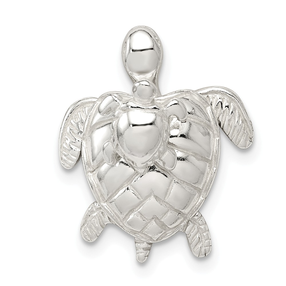 Sterling Silver Mother & Baby Turtle Pendant