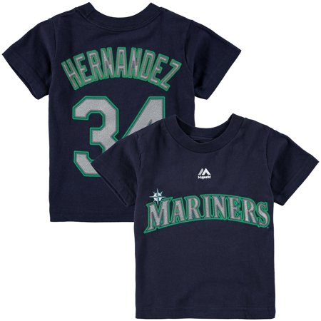 Felix Hernandez Mariners - Felix Hernandez Seattle Mariners Majestic Toddler Player Name and Number T-Shirt - Navy
