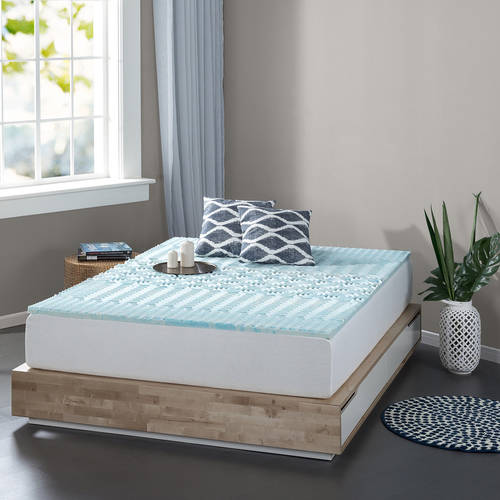 "Spa Sensations Zoned Fusion Gel Memory Foam 2"" Mattress Topper, Available in multiple sizes"