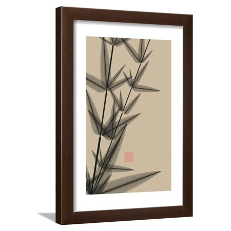 Black Ivory Art (Ink Style Bamboo Illustration in Black and Ivory Framed Print Wall Art By L DEP)