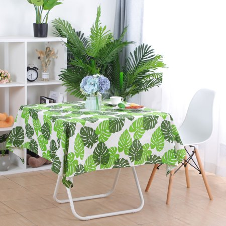 """Tablecloth Cotton Oil Stain Resistant Wedding Camping Table Cloths 55"""" x 55"""", #5 - image 7 de 7"""