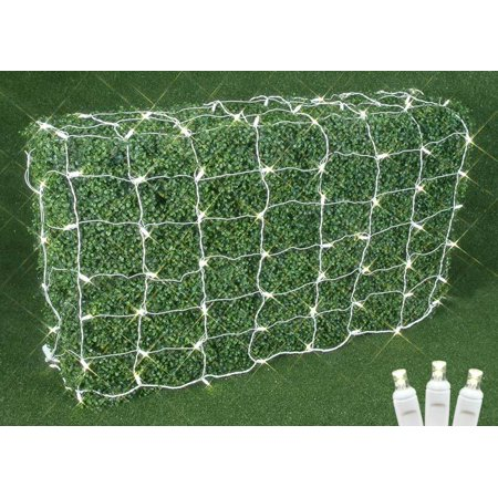 Novelty Lights Commercial Grade Christmas LED Net Light Set, 4' X 6', White Wire, 100 Light (Orange Net Lights Halloween)