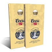 Coors Banquet Beer Cornhole Board Set - Choose Your Size & Accessories