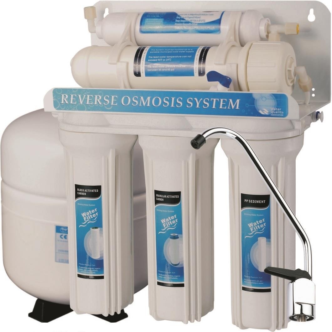 5 Stage Reverse Osmosis Drinking Water Filter System RO Under Sink Home Purifier