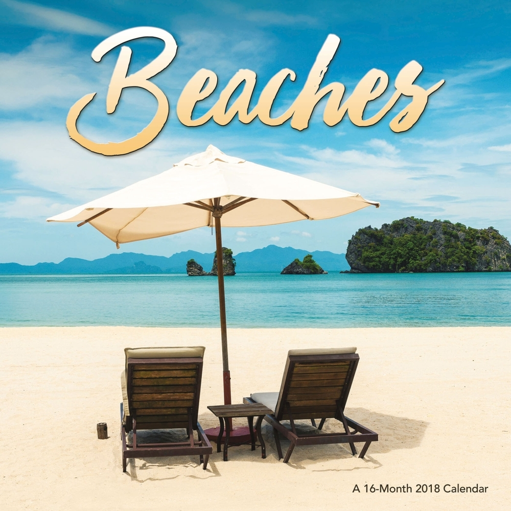 Beaches Wall Calendar, Beaches by Trends International   Walmart.com