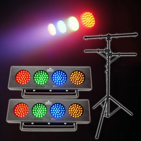 2 Chauvet DJ BANK Party Lights w/Automated Sound Activated Programs+Tripod Stand Chauvet Dj Bank