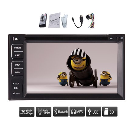 In Dash Car Video Player Audio BT Audio RDS Car Stereo Electronics Radio Receiver PC Autoradio Double Din Auto DVD CD VCD Touchscreen RDS Sub AMP logo