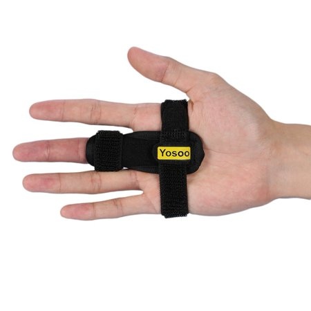 Yosoo Trigger Finger Splint, Adjustable Finger Brace with Hook&Loop Tape for Straightening Curved, Bent, Locked & Stenosing Tenosynovitis, Best Finger Splint for Tendon Release & Pain