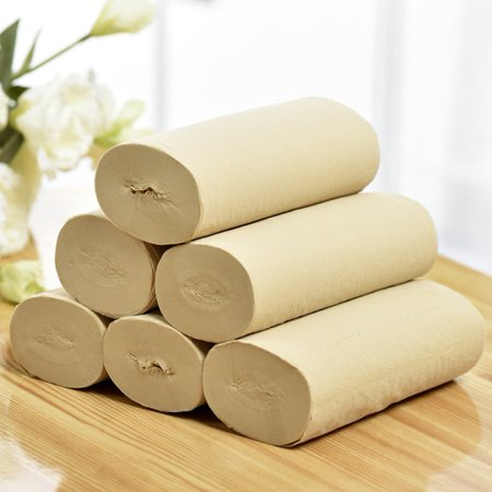 Natural Bamboo Paper Soft And Thick Three Layers Original Wood Pulp - image 4 of 6