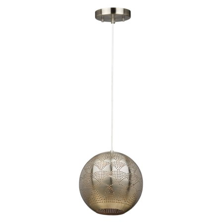 ArtCraft Starstruck CL15103 Pendant Light With its perforated vintage brass globe shade, the ArtCraft Starstruck CL15103 Pendant Light gives off an appealing play of light. The single-lamp pendant hangs from an adjustable wire. Artcraft Since 1955, Artcraft Lighting has operated on the belief that beautiful lighting should be as much about the experience as the light fixtures themselves. And to create that meaningful experience, Artcraft Lighting strives to provide lighting products that are designed to meet your decor, lifestyle, and budget needs - all while ensuring top quality and impeccable customer service. With Artcraft Lighting products, you can reap the benefits of more than 60 years of lighting experience.