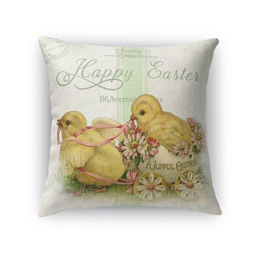 KAVKA DESIGNS A Joyfull Easter Throw Pillow