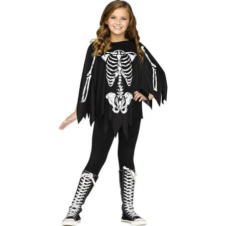 Skeleton Child Poncho Costume (Children's Books Costume Ideas)