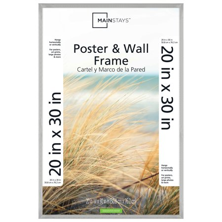 """Mainstays 20x30"""" Silver Metallic Poster and Picture Frame ..."""