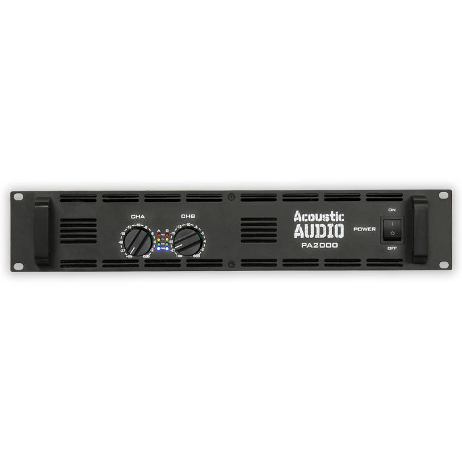 Acoustic Audio PA2000 Amp Two Channel 2000 Watt Pro Audio Power Amplifier PA DJ by Goldwood Sound, Inc.
