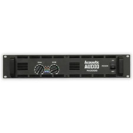 Acoustic Audio PA2000 Amp Two Channel 2000 Watt Pro Audio Power Amplifier PA