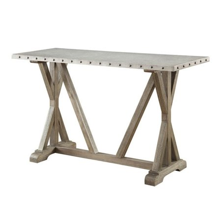 Coaster Rustic Console Table In Driftwood Walmart Canada