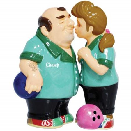 Westland Mwah Bowling Couple Salt and Pepper Shakers Set ()