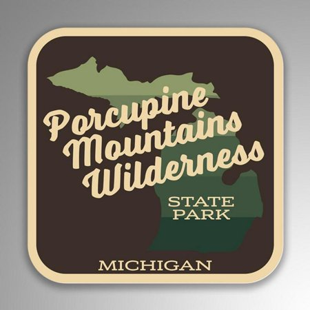 Porcupine Mountains Wilderness State Park Decal Sticker | 4-Inches By 4-Inches | Vinyl Sticker | UV Protective Laminate | SP255 - Wilderness Road State Park Halloween