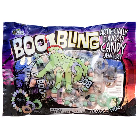 New 377284  Hh Candy Boo Bling Jewelry 4.23 Oz (24-Pack) Halloween Cheap Wholesale Discount Bulk Seasonal Halloween Decoration