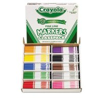 Crayola Fine Line 200 Count Classpack Non-Washable Marker