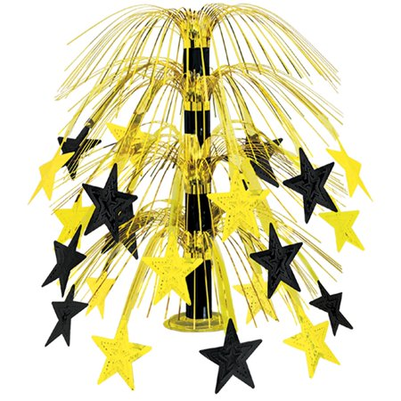 Club Pack of 6 Black and Gold Cascade Star Cut-Out Table Centerpiece Decorations 18