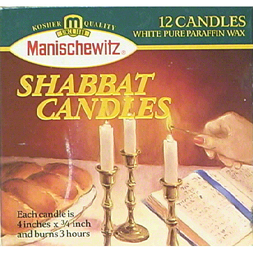 Manischewitz Shabbat Candles, 12 count, (Pack of 24)