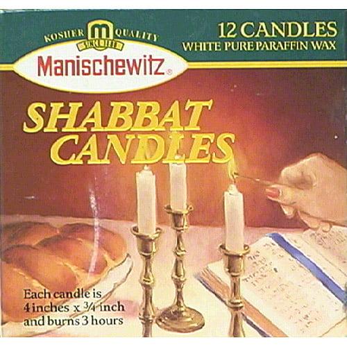 Manischewitz Shabbat Candles, 12 count, (Pack of 24)