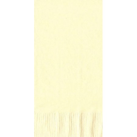 50 Plain Solid Colors Dinner Hand Towel Napkins Paper - Ivory