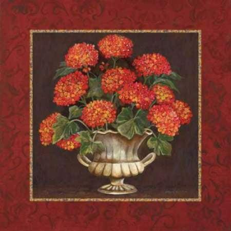 Geraniums II Canvas Art - Gregory Gorham (24 x 24)