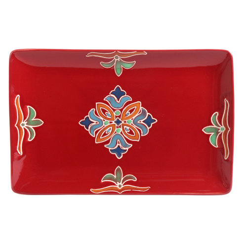 """Better Homes and Gardens 14"""" Serving Platter, Red"""