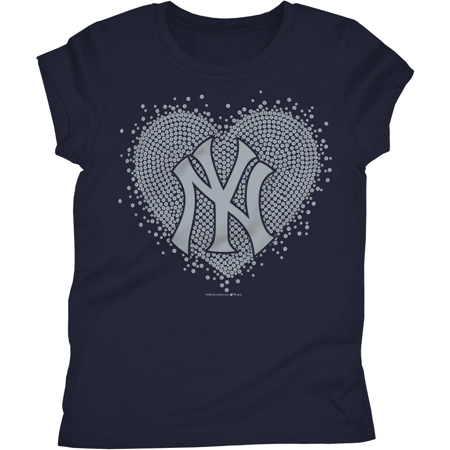 New York Yankees Girls Short Sleeve Graphic Tee
