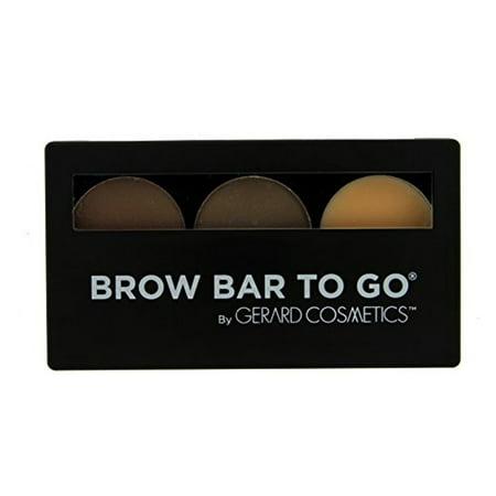 Brow Bar to Go, Brush on Brow - Gerard Cosmetics, Medium to Ebony (Brow Bar To Go)