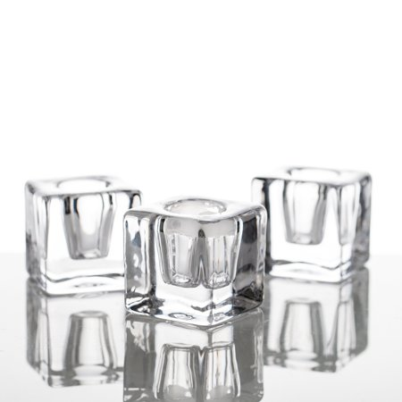 Richland Square Glass Taper Candle Holder Set of 6