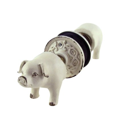 Pig Nose Tail Antique Door Knob Set 2 Knobs Rustic Kitchen Pantry