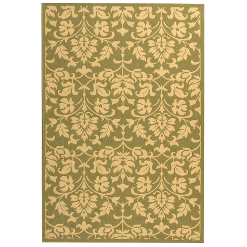 Alcott Hill Bexton Olive/Natural Indoor/Outdoor Area Rug