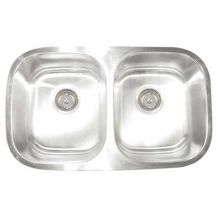 - Artisan Sinks Premium Series 30'' L x 17.75'' W Double Bowl Undermount Kitchen Sink