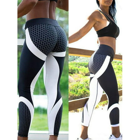 Deago Women's 3D Print Athletic Yoga Pants Skinny Workout Gym Leggings Sport Trousers (Best Workout Program For Skinny Guys)