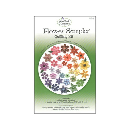 (Quilled Creations Quilling Kit Flower Sampler)