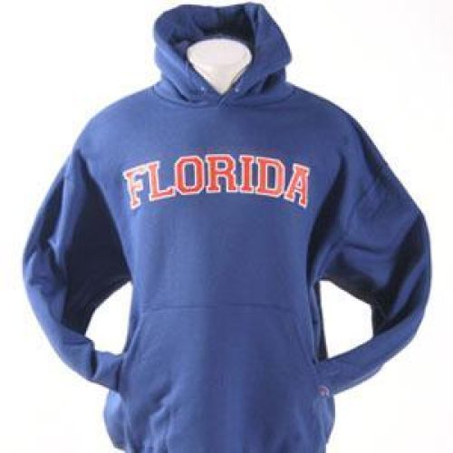 Florida Gators Hooded Sweatshirt - Florida Straight - By Champion - Royal