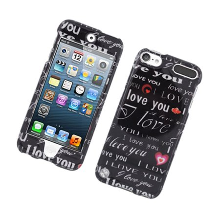 Insten Love You Hard Cover Case For Apple iPod Touch 5th Gen -