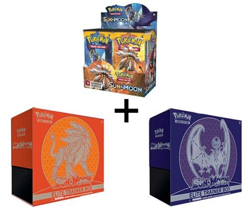 Pokemon TCG Sun & Moon Booster Box + BOTH Elite Trainers ...