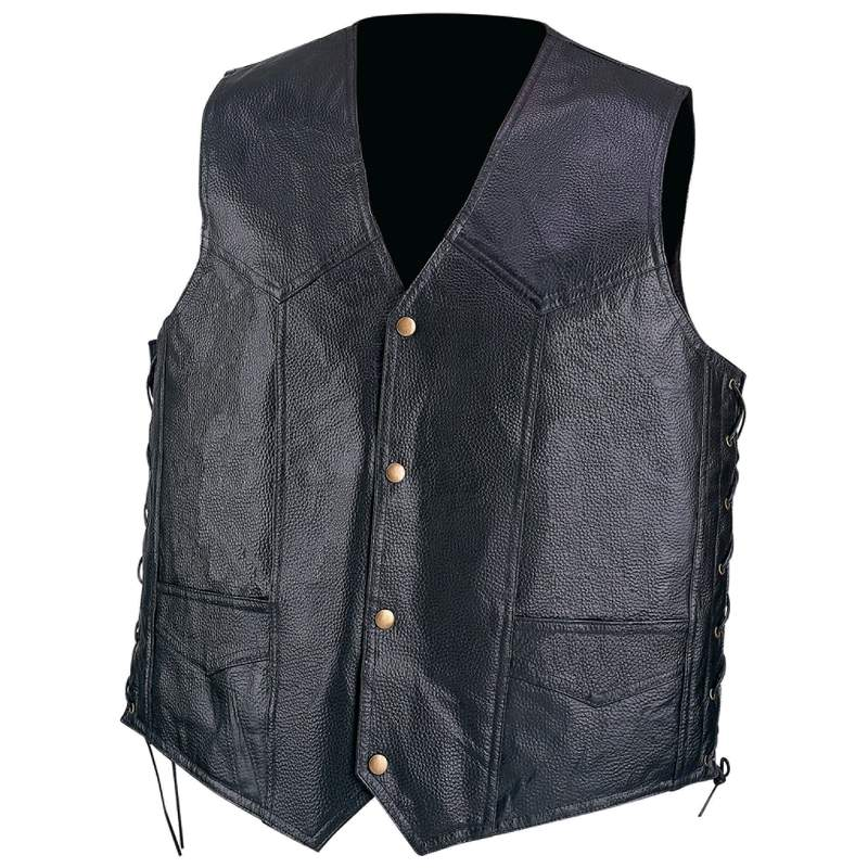 Diamond Plate™ Hand-sewn Pebble Grain Genuine Leather Vest - 2x - GFVPB2X