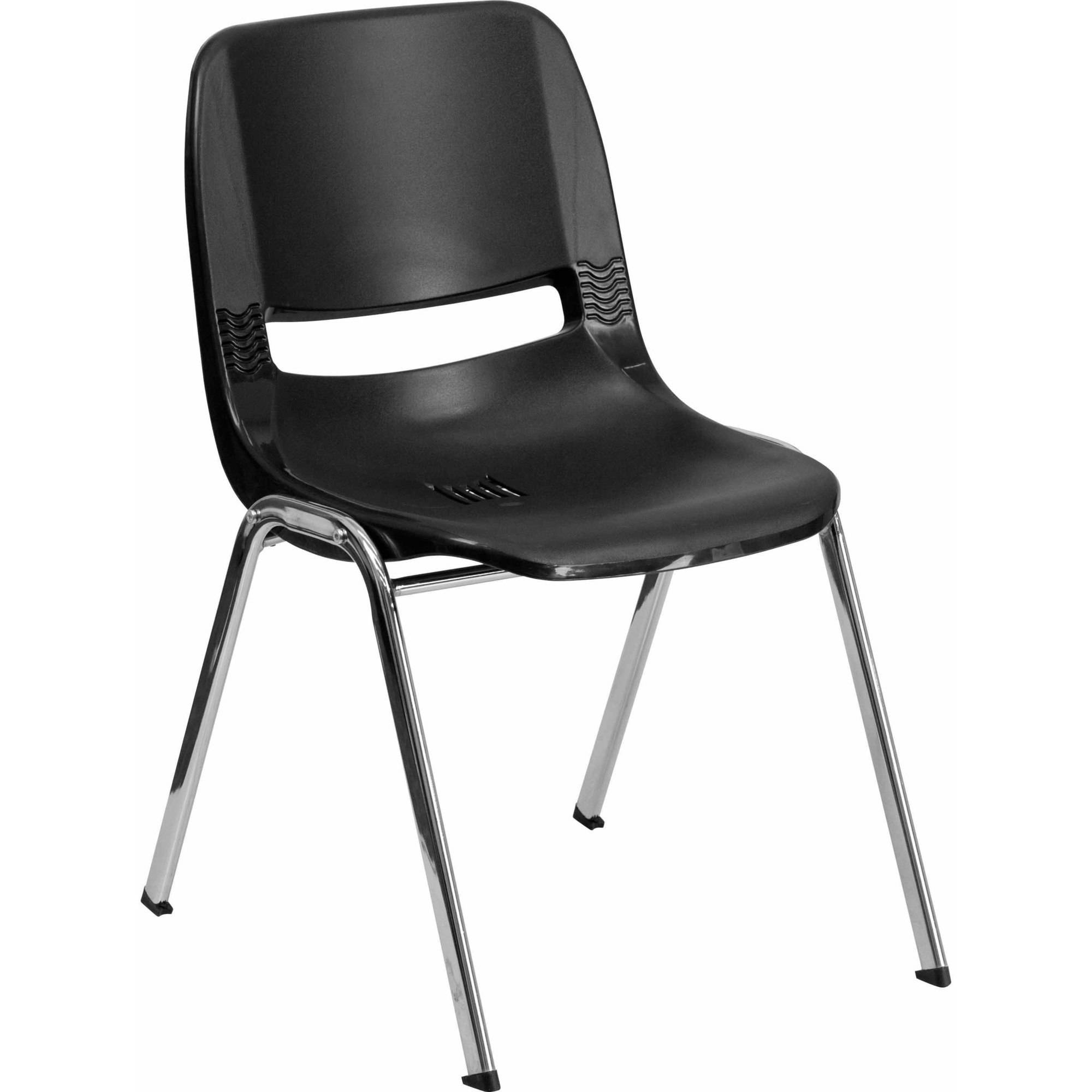 Flash Furniture HERCULES Series 440 lb Capacity Ergonomic Shell Stack Chair with Chrome